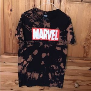 Bleached TieDye Marvel Tshirt